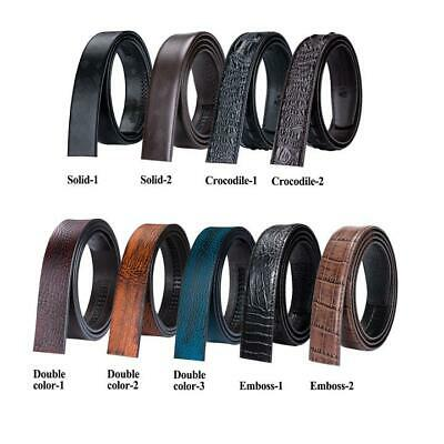 Men's Replacement Belts Straps Black Blue Brown Leather For Automatic Buckles