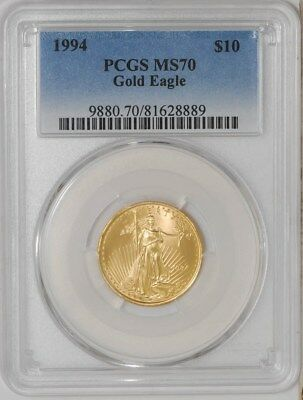 1994 $10 American Gold Eagle #935800-4 MS70 PCGS