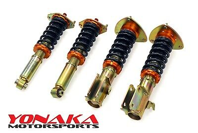 Yonaka Coilovers for 08-14 Subaru WRX STI Adjustable Performance Shocks Springs