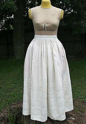 ANTIQUE PRE CIVIL WAR ERA PETTICOAT c.1830s EARLY VICTORIAN WEARABLE!