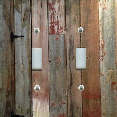 Light Switch Plate Cover RUSTIC HOME DECOR WESTERN BARN WOOD PLANKS 4