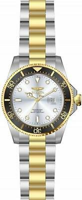 Invicta Pro Diver 22059 Men's Round Analog Date Silver & Gold Tone Watch