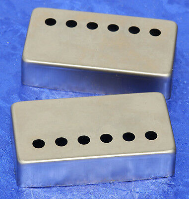2 Lindy Fralin Raw Nickel Humbucker Pickup Covers for LP SG Guitars Les Paul
