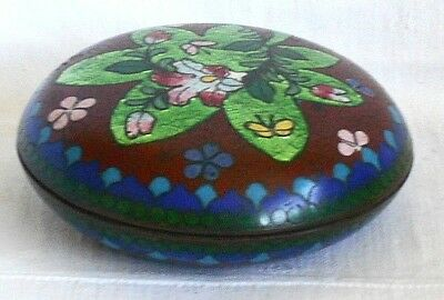C19Th Japanese Cloisonne Trinket Pot And Cover