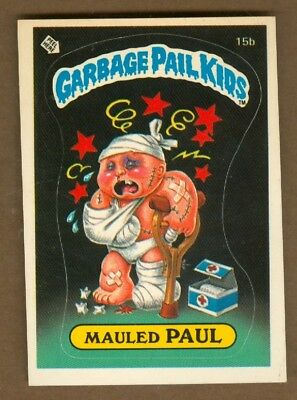 1985 Topps GARBAGE PAIL KIDS #15b Mauled Paul (Matte) *NearMint-Mint*