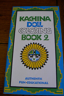 Vintage Kachina Doll Coloring Book 2 Donna Greenlee 1973 Unused FREE US SHIP