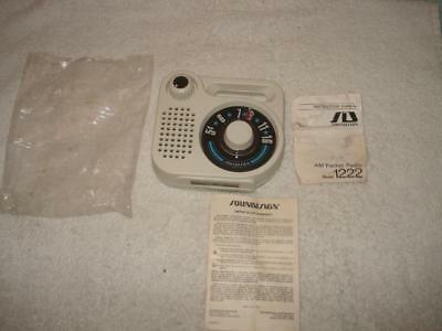 Vintage Soundesign Am Transistor Portable Radio Unsed 1222 B
