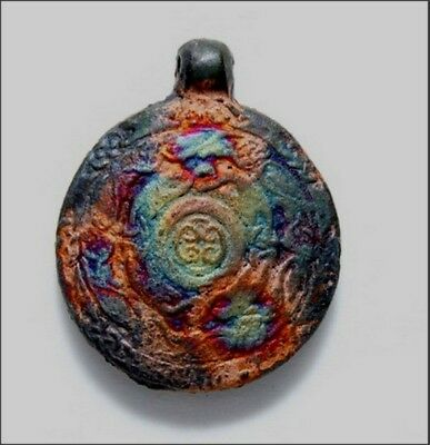 Peruvian Ceramic Celtic Drop Pendant