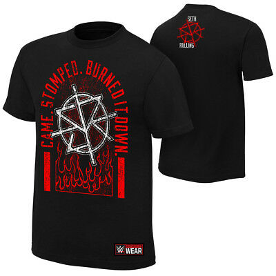 NEU+ORIGINAL Seth Rollins-Came Stomped Burned it Down T-SHIRT XS-5XL WWE RAW