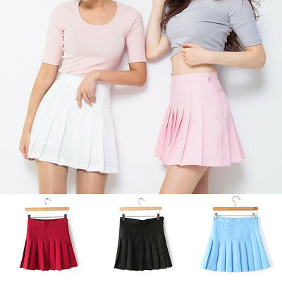 Fashion Korean Woman Skirt School Girls Pleated Tennis Skater Mini Skirts Shorts