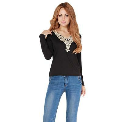 Womens Casual Long Sleeve Blouse Ladies Slim Pullover Jumper Tops T Shirts LG