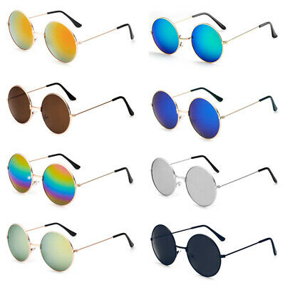 Fashion Men Women Unisex Round Sunglasses Circle Hippie Steampunk Retro Glasses
