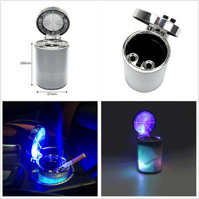 1X Car Ashtray With LED Light Cigarette Cigar Ashtray Container Smoke Cup Holder