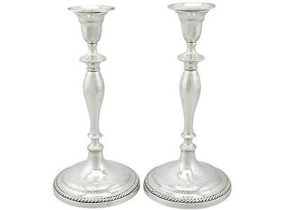 Antique George III Sterling Silver Candlesticks Sheffield 1796
