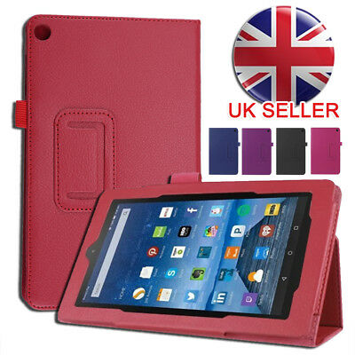 New Leather Stand Case Cover For 2017 Amazon Kindle Fire HD 8 Gen