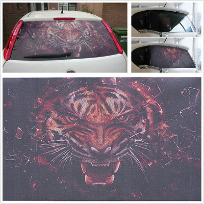 DIY Durable Car Rear Window Tiger Head Cool Sticker For Truck SUV Jeep 130x56cm