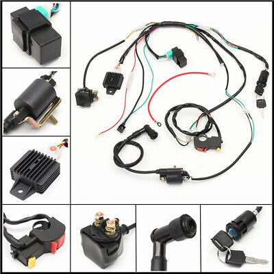 50 -125CC CDI Wiring Harness Coil Stator Assembly ATV Go Kart Electric Quad Kit