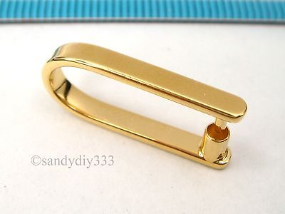 1x VERMEIL REAL 18-K GOLD plated STERLING SILVER PENDANT BAIL CLASP 22mm G217