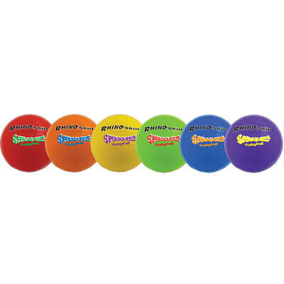 Champion Sports Super Squeeze Volleyball Set, Rhino Skin, Assorted, 6 Balls/Set