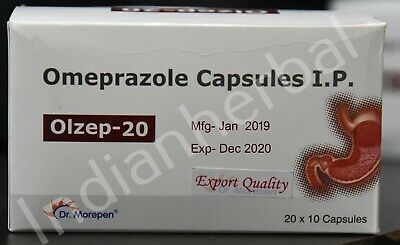 600 Capsules OTC 20mg Omeprazole EXP Jan 2021 Acid Reducer