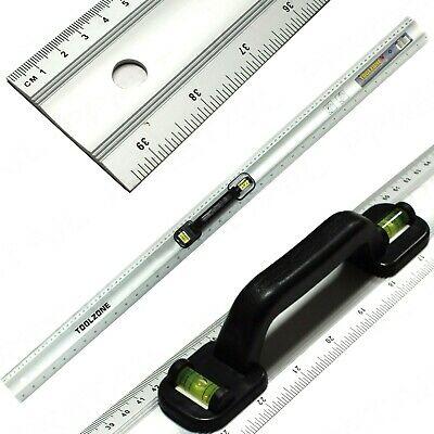 "1 METRE LONG METAL CUTTING RULER +HANDLE 40"" MEASURE Carpenter/School Rule 100CM"