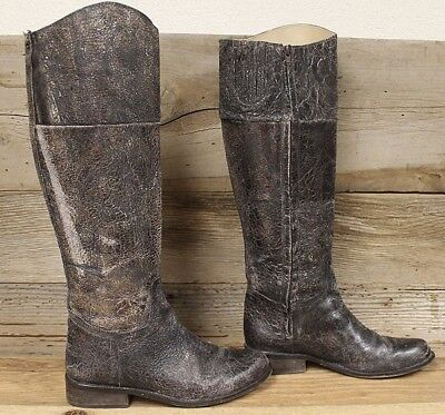 ed8b47d3af9 Womens Steven by Steve Madden Distressed Leather REINS knee high Boots SZ 9M