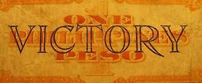 ~~  World War Two Era  Us Philippines 1 Peso Gold Back Victory Note ~~