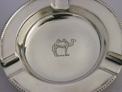ASH TRAY SOLID SILVER CAMEL ENGRAVED ASHTRAY 1961 52g