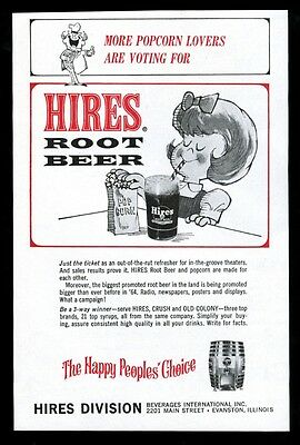 1964 Hires root beer unusual movie trade print ad