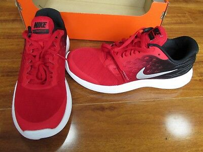 pretty nice eb05e 11ed8 NEW NIKE LUNARSTELOS GS Running Shoe BOYS 6 Y Red Black 844969 600  75.