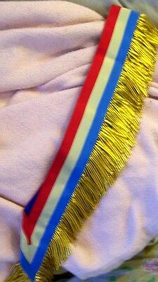 USA City Town Municipal Council Mayor Officer Marshal July Parade Ceremony Sash