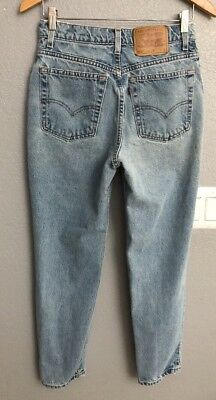 Vintage Womens Levis 512 High Waist Slim Fit Tapered Leg Mom Jeans 11 S - 28x28