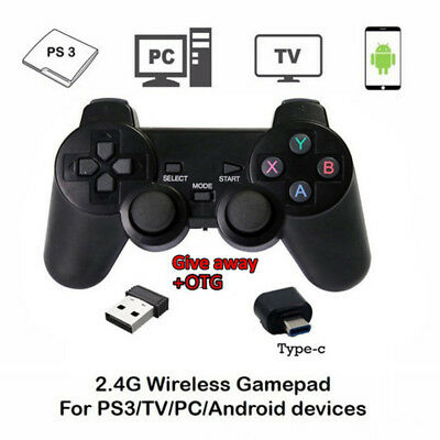 A Pair Wireless Bluetooth Game Remote Controller Pad For Sony PS3 PlayStation 3
