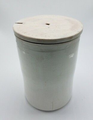 Antique Thomas Edison Porcelain Primary Battery Cell with Lid