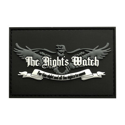 Nights Watch Game of Thrones Morale Patch (3.0 X 2.0-3D-PVC Rubber)