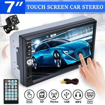 "Android Bluetooth Car Stereo Radio 2 DIN 7"" MP5 Player GPS Wifi 4G+Rear Camera"