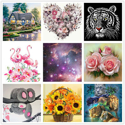 5D Diamond Embroidery Painting DIY Animals Flower Cross Crafts Stitch Kit Home