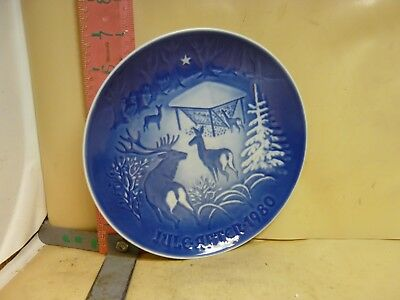 Bing & Grondahl Christmas Plate - Jule 1980 - Christmas In The Woods - No Damage
