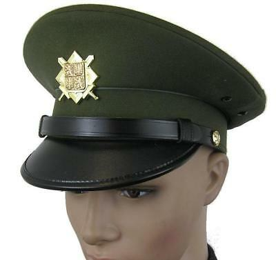 Czech Army Peaked Cap & Badge Parade Dress (Small Sizes)