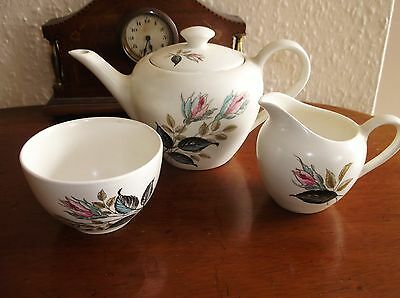 Rare Vintage Teaset J&g Meakin Night Club Teapot Sugar Bowl & Milk Jug  Ex Cond