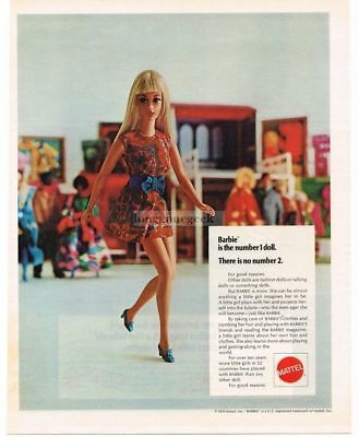 1970 Mattell BARBIE and HOT WHEELS Sizzlers Red Ford GT 2-sided VTG PRINT AD