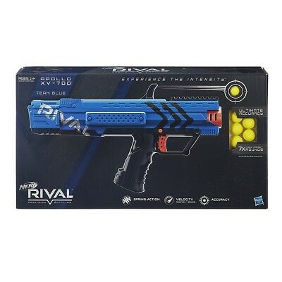NEW NERF RIVAL APOLLO XV-700 TEAM BLUE w/ 7 HIGH-IMPACT ROUNDS FREE SHIPPING