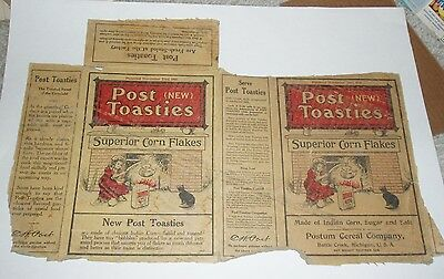 1915 Post Cereal NEW Post Toasties Cereal Box vintage