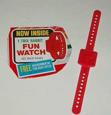 1970's TRIX Cereal BoxTrix Rabbit Fun Watch premium
