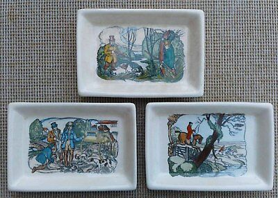 Plichta  - Selection Of Sporting Themed Trinket Dishes / Trays - Eric Bailey.