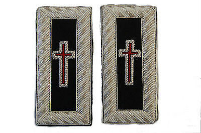 Medieval Crusades Knight Templar Uniform Patch Straps Cross Holy Land War Battle