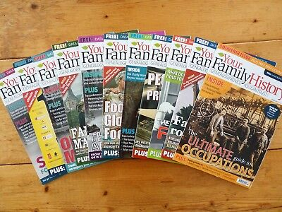 Your Family History Magazine Collection of Eleven Copies 182-192 Last Ever Issue