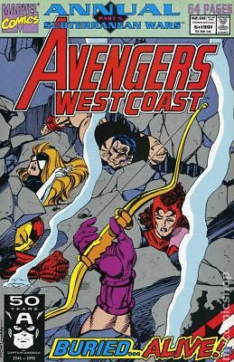 Avengers West Coast Annual #6 1991 FN Stock Image