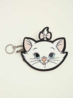 Loungefly Disney The Aristocats Marie Keychain Zipped Coin Purse Cat NEW! NWT