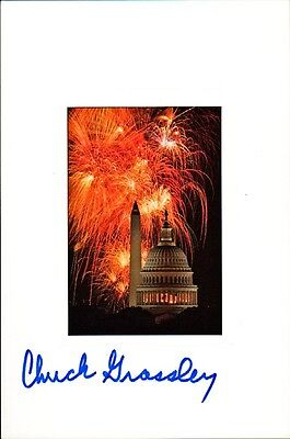 Senator CHUCK GRASSLEY Signed Souvenir Card